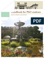 Handbook for PhD Students