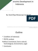 Constraints Development in Indonesia (Hambatan Pembangunan Indonesia)
