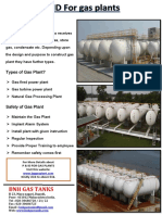 P & ID For gas plants