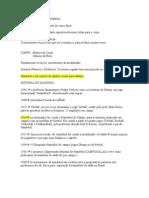 ANOTAÇOES DE  HANDEBOL