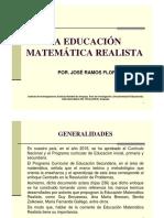Educación Matemática Realista. José Ramos Flores