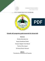 Estudio Del Programa Gubernamental de Desarrollo