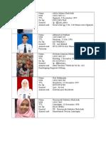 Biodata Kelas M
