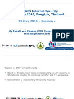 ITU MICT APNIC TOT IPv6 WiFi Internet Security 26 May 2016 Globeron Session x