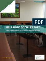 Bilan annuel 2017 des relations sociales dans les entreprises privées