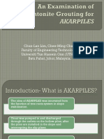 An Examination of Bentonite Grouting for AKARPILES