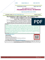 TRANSDERMAL DRUG DELIVERY –ITS APPROACHES, UTILITY AND CURRENT ADVANCEMENT