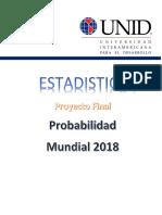Calculo de Probabillidad de Ser Campeon Del Mundial 2018