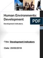 Development indicators lesson 1+2