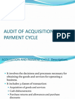 Audit of Acquisition and Payment Cycle[1]