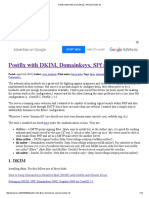 Postfix With DKIM, Domainkeys, SPf and Sender-ID