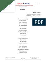 33.Rohini Vijayan Poems