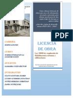 Licencias de Obras