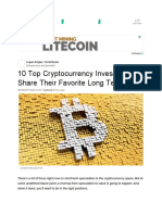 10 Top Cryptocurrency Investors Share Their Favorite Long Term Picks