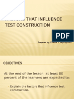 Factors That Influence Test Construction