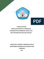 2015 - Panduan Online Pengajuan Proposal Pembukaan Program Studi Pendidikan Jarak Jauh PJJ Bagi Program Diploma Dan Sarjana