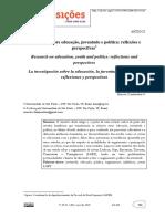 Pesquisa Sobre Educacao e Politicas Publicas_marilia Sposito