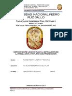 Metodos Para La Estimacion de La Poblacion