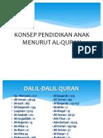 Konsep Pendidikan Anak Menurut Al-quran Pp