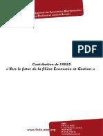 2012 - Contribution - Filière Économie
