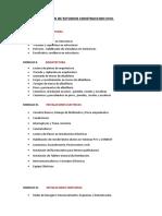 Plan de Estudios Construccion Civil