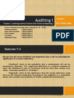Auditing I Ch 7