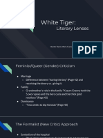 white tiger literary lenses