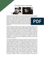 Julio Cortázar_Muerte de Antonin Artaud
