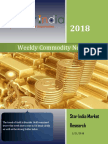 Weekly Commodity News Latter 21-05-2018