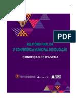 Relatório Final da Conferência Municipal de Educação