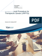 Uniform Recall Procedure Therapeutic Goods Urptg
