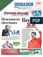 Primera página diario El Informador