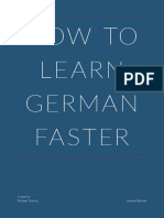 How to Learn German Faster