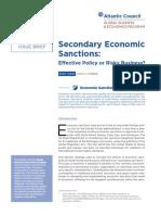 Secondary Economic Sanctions