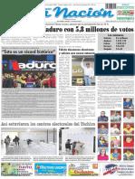 Primera página diario La Nación