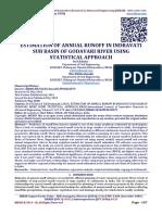ESTIMATION OF ANNUAL RUNOFF IN INDRAVATI SUB BASIN OF GODAVARI RIVER USING  STATISTICAL APPROACH