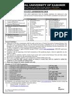 Cucet Admission Notice 2018