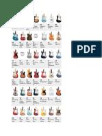 Fender Color Chart