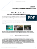 water pollution solutions   7 simple solutions