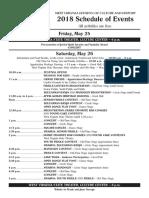 Vandalia Gathering Schedule 2018