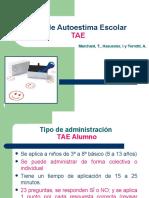 Introducción Test de Autoestima Escolar (TAE)