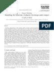 Dean, Read - 2001 - Modelling the Behaviour of Plastics for Design Under Impact