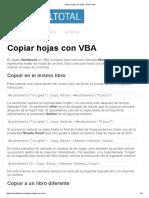 Copiar Hojas Con VBA - Excel Total