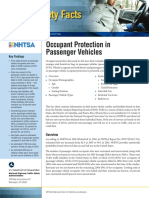 2016 NHTSA Passenger Vehicles Traffic Safety Fact Sheet