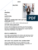 Kevins Character Profile
