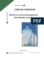 Planta Envasadora de Agua Mineral Natural