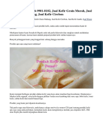 PROMO! WA 0896-9901-8182, Jual Kefir Grain Murah, Jual Kefir Grain Malang, Jual Kefir Cirebon