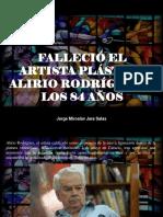 Jorge Miroslav Jara Salas - Falleció El Artista Plástico Alirio Rodríguez a Los 84 Años