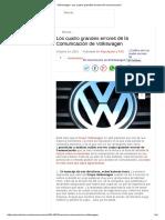 Volkswagen_ Sus Cuatro Grandes Errores de Comunicación