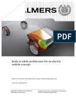 Body in white architecture for an electric vehicle concept